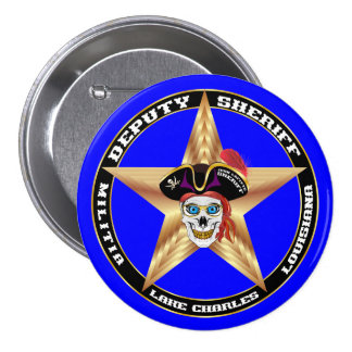 Pirate Deputy Sheriff  IMPORTANT Read About Design 3 Inch Round Button
