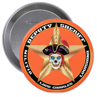 Pirate Deputy Sheriff  IMPORTANT Read About Design 4 Inch Round Button
