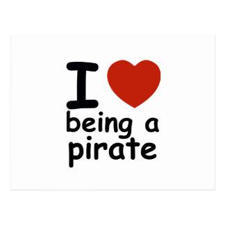 pirate design postcard