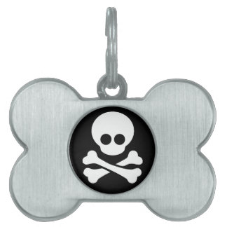 Pirate Dog and Cat Tag Pet Name Tags