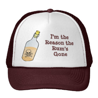 Pirate Drinks all the Rum Trucker Hat