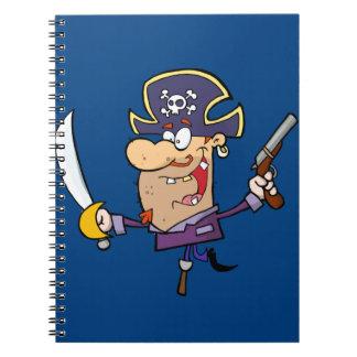 Pirate drôle carnet à spirale