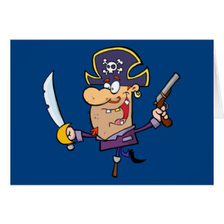 Pirate drôle carte de vœux