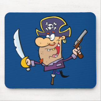 Pirate drôle tapis de souris