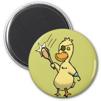 Pirate Duck 2 Inch Round Magnet