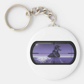 Pirate Duck Torpedoed Basic Round Button Keychain