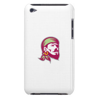 Pirate Eyepatch Headscarf Looking Up Retro iPod Touch Cases