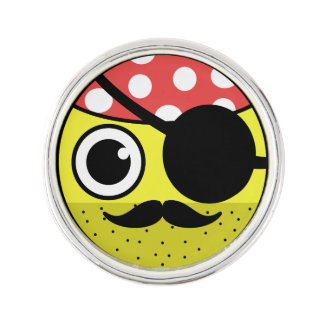 Pirate Face Lapel Pin