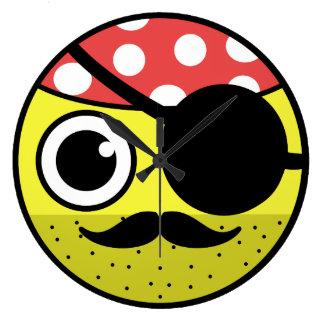 Pirate Face Large Clock