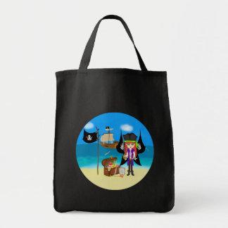 Pirate Faery with Ship and Treasure Bag