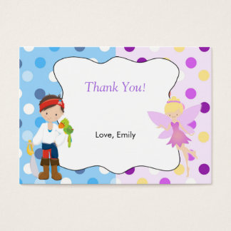 Pirate Fairy Thank You Tag Label Business Card