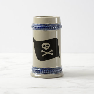 Pirate flag beer stein