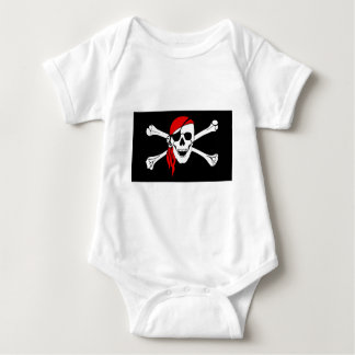 Pirate Flag Bones Skull Danger Symbol Baby Bodysuit