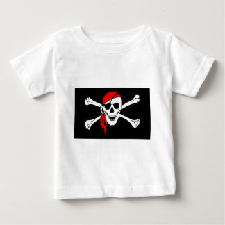 Pirate Flag Bones Skull Danger Symbol Baby T-Shirt