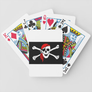 Pirate Flag Bones Skull Danger Symbol Bicycle Playing Cards