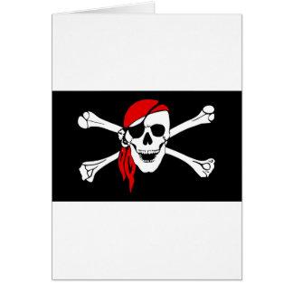 Pirate Flag Bones Skull Danger Symbol Card