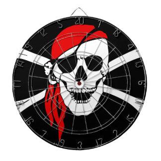 Pirate Flag Bones Skull Danger Symbol Dartboard