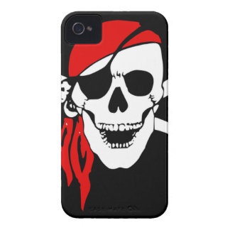 Pirate Flag Bones Skull Danger Symbol iPhone 4 Cover