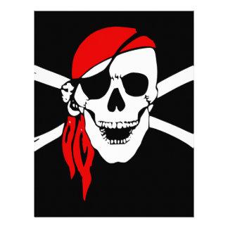 Pirate Flag Bones Skull Danger Symbol Letterhead