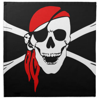 Pirate Flag Bones Skull Danger Symbol Napkin