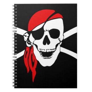Pirate Flag Bones Skull Danger Symbol Notebook