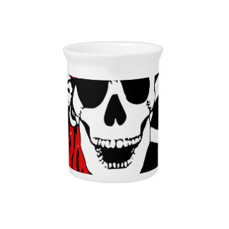 Pirate Flag Bones Skull Danger Symbol Pitcher