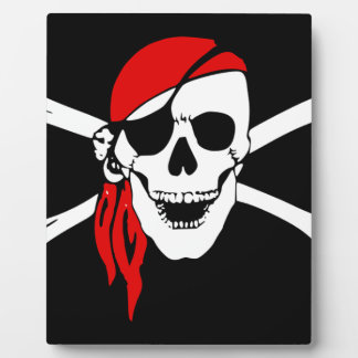 Pirate Flag Bones Skull Danger Symbol Plaque