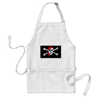 Pirate Flag Bones Skull Danger Symbol Standard Apron