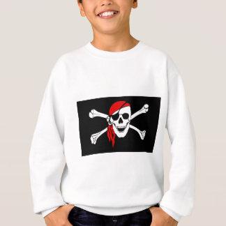Pirate Flag Bones Skull Danger Symbol Sweatshirt
