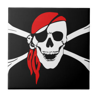 Pirate Flag Bones Skull Danger Symbol Tile