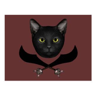 Pirate Flag Cat Postcard