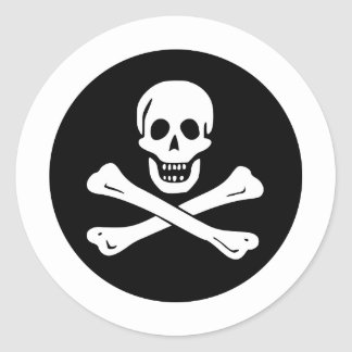 Pirate Flag Classic Round Sticker
