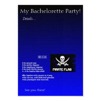 "Pirate Flag Drink Recipe 5"" X 7"" Invitation Card"