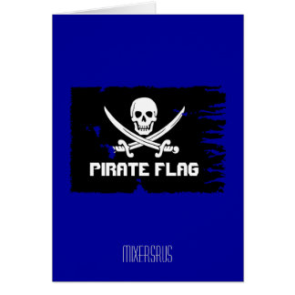 Pirate Flag Drink Recipe Greeting Card