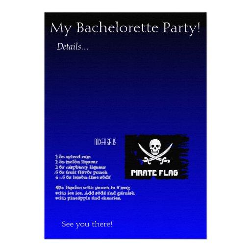 Pirate Flag Drink Recipe Card