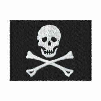 Pirate Flag Embroidered Shirt