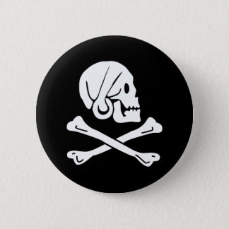 Pirate Flag - Jolly Roger 2 Inch Round Button