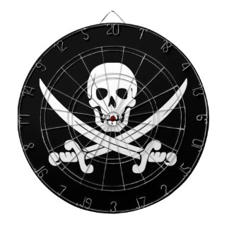 Pirate Flag Jolly Roger Skull and Crossbones Gift Dartboard