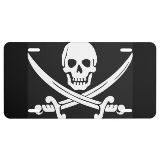 Pirate Flag License Plate