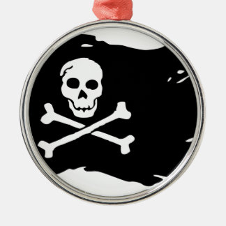 Pirate Flag Metal Ornament