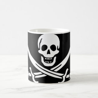 Pirate Flag of Captain Calico Jack Rackham Magic Mug