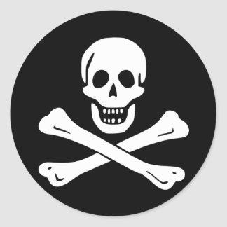 Pirate Flag of Edward England Classic Round Sticker