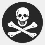 Pirate Flag of Edward England Round Stickers