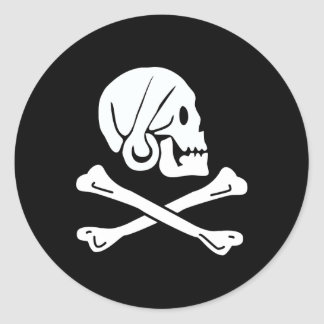 Pirate Flag of Henry Every Classic Round Sticker