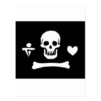 Pirate Flag Of Stede Bonnet Postcard