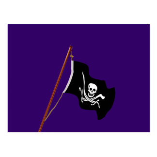 Pirate Flag Scull and Crossed Swords Postcards