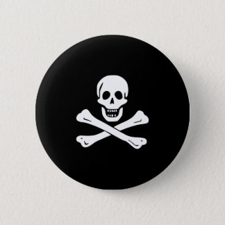 Pirate Flag Skull and Crossbones Jolly Roger 2 Inch Round Button