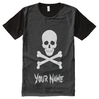 Pirate Flag Skull and Crossbones Jolly Roger All-Over-Print T-Shirt