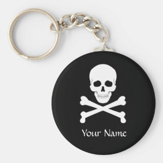 Pirate Flag Skull and Crossbones Jolly Roger Keychain