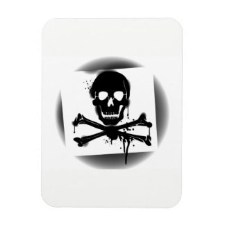 Pirate Flag Skull and Crossbones Jolly Roger Magnet